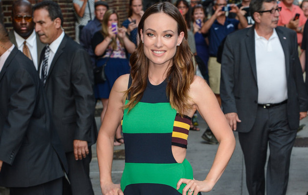 "Olivia Wilde Flaunts Slim Figure in Stripes, Talks ""Sweaty and Angry"" Mother's Day!"