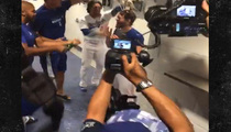 Clayton Kershaw's No-Hitter -- Dodgers Pitcher Gets CHAMPAGNE SHOWER!!