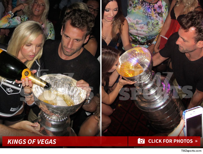 LA Kings Drinking Stanley Cup