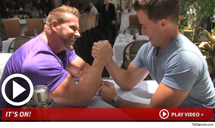 Jay Cutler Arm Wrestling