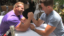 Bodybuilding Legend, Jay Cutler, Arm Wrestling in the Streets ... With TMZ Photog!