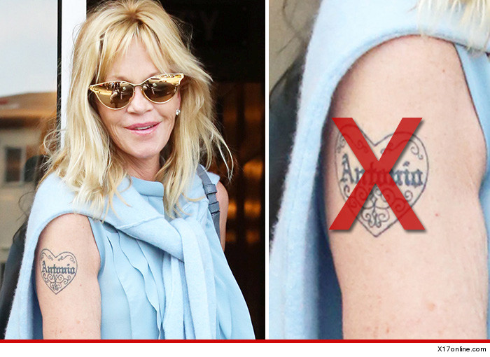 Melanie Griffith Tattoo