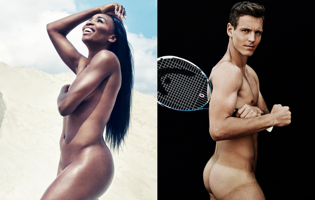 Venus Williams and Tomas Berdych Go Naked for ESPN's Body Issue
