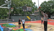 Dominique Wilkins -- NBA Legend Balls with Kids at Rucker Park