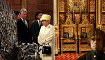Queen Elizabeth Visits 'Game of Thrones' Set ... Iron Throne vs. English Throne