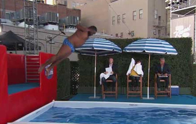 Jimmy Kimmel Convinces Fans to Put Their Belly Flop Skills to the Test!