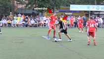 Steve Nash vs. Dirk Nowitzki -- International Soccer Smackdown in NYC!!!