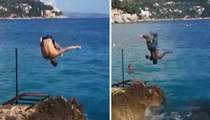 Blake Griffin -- PERFECT BACKFLIP ... During Croatia Vacation