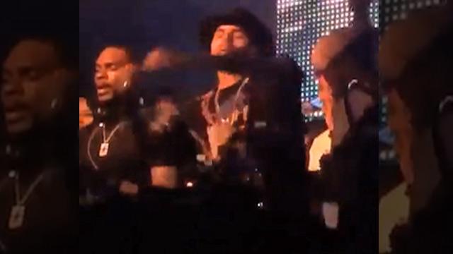 Chris Brown Takes a Shot ... Falling Down Drunk