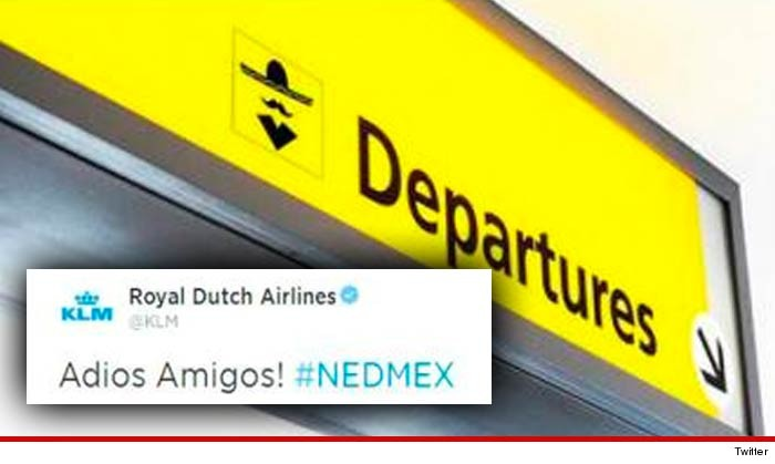 Dutch Airline Adios Amigos Tweet
