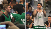 Chris Brown & Justin Bieber -- One Of Us Can Ball ... For Real