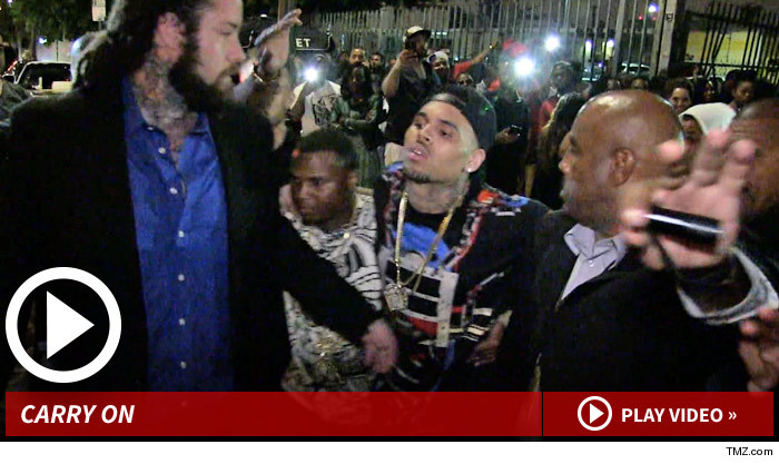 Chris Brown -- Carried Out of BET Awards After-Party