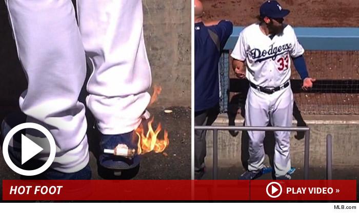 LA Dodgers Hot Foot Prank