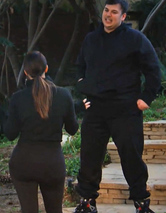 Rob Kardashian Works Out with Kim and Khloe Kardashian Before Wedding Fallout