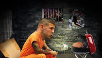 Aaron Hernandez -- 4th Of July Feast ... Pizza And Meatloaf!