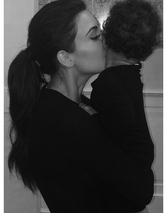 Kim Kardashian Gives North West a Goodnight Kiss -- See the Cute Pic!