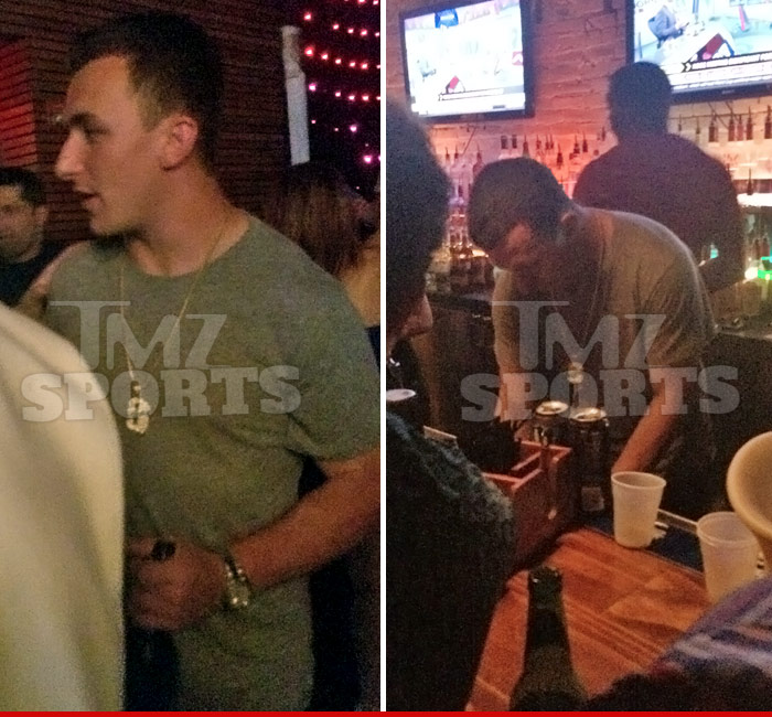 Johnny Manziel Bartending