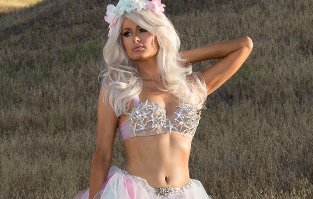 "Paris Hilton Flaunts Amazing Physique on ""Come Alive"" Music Video Set"