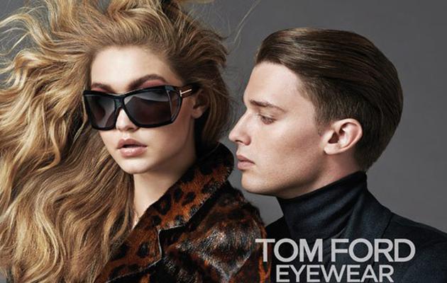 Gigi Hadid & Patrick Schwarzenegger Get Cozy in Tom Ford Eyewear Ad