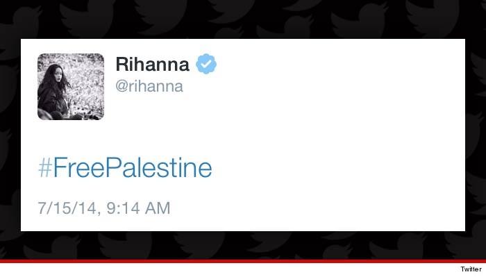 Rihanna Tweets Free Palestine