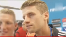 Germany Star Thomas Muller ... On Golden Boot -- Stick It Up Your Ass!!