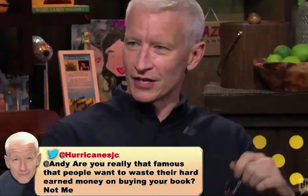 Anderson Cooper Helps Andy Cohen Respond to His Mean Tweets -- See the Funny Video!