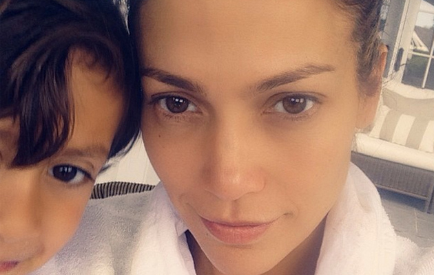 Jennifer Lopez Looks Flawless in Makeup-Free Selfie with Son Max