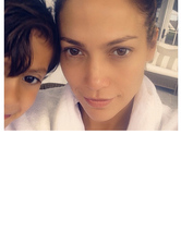 Jennifer Lopez Looks Flawless in Makeup-Free Selfie with Son M