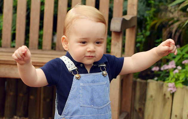 Prince George Takes a Walk Before His First Birthday -- See His New Official Photo!