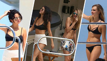 Selena Gomez -- Cara Delevinge Floats Her Boat ... for Birthday Bash