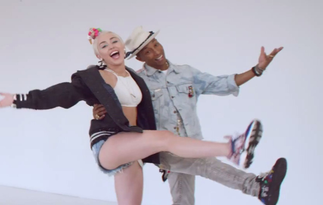 "Miley Cyrus Dances in Pharrell's ""Come Get It Bae"" Music Video"