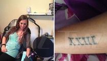 Sydney Leathers -- Gets Tattoo To Celebrate Weinergate Anniversary