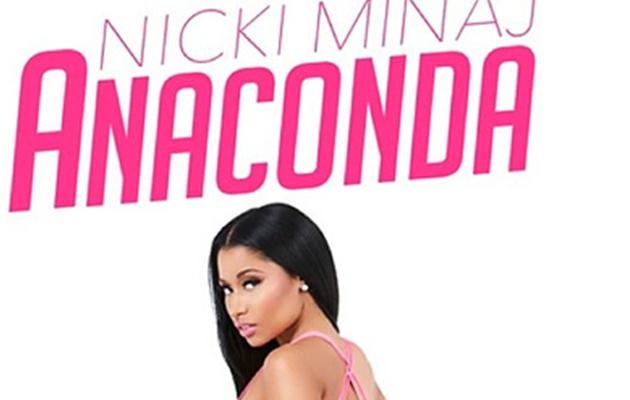 """Nicki Minaj Bares Booty in a G-String on """"Anaconda"""" Cover Art"""