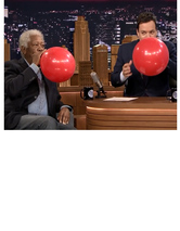 Morgan Freeman and Jimmy Fallon Do Hilarious Interview While Inhaling Helium