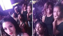 Michelle Obama -- Can't Stop Malia and Sasha Pics at Beyonce and Jay Z Concert