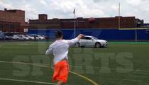 Johnny Manziel -- FIRES PIGSKIN THROUGH CAR WINDOW ... Caught On Video