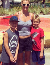 Britney Spears Takes Sons to Disneyland --