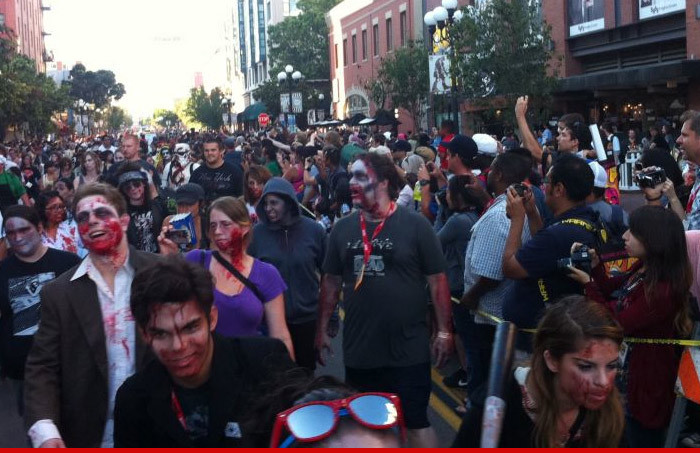 Comic Con — Zombie Walk Turns Violent … Woman Hit By Car When Crowd Goes Berserk
