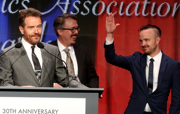 Aaron Paul Debuts Shaved 'Do at Annual TCA Awards