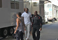 LeBron James -- FIRST DAY ON MOVIE SET ... In N