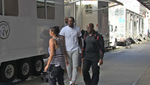 LeBron James -- FIRST DAY ON MOVIE SET ... In New Amy Schumer Flick