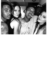 Kendall & Kylie Jenner Party With Chris Brown and Trey Songz -- See the Photos!