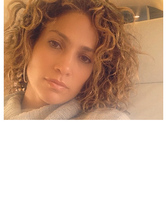 Jennifer Lopez Goes Natural, Shows Off Short Clurly &#03