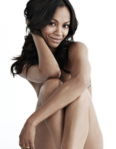 Zoe Saldana Gets Naked for Women's Health, Shows Off Rarely-Seen Ta