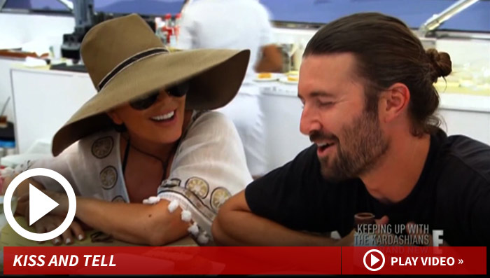 Brandon Jenner and Kim Kardashian Kissed