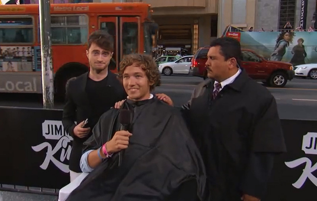 "Watch Daniel Radcliffe Cut A Stranger's Hair on ""Jimmy Kimmel Live!"""