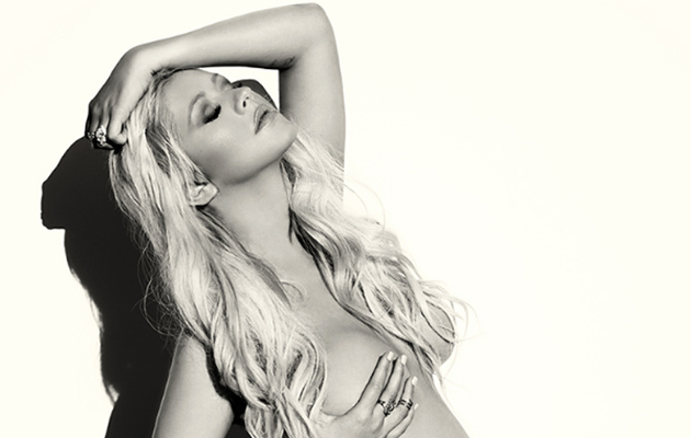 Christina Aguilera Shows Off BIG Baby Bump in Fully Naked Photo Shoot!