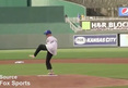 Man with No Arms -- THROWS OUT 1ST PITCH ... Nails It!!!