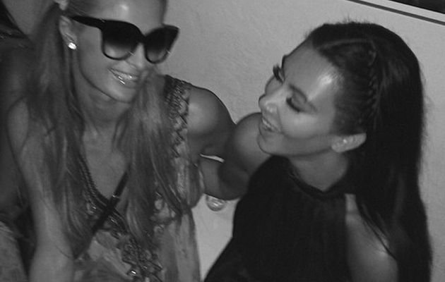 Kim Kardashian & Paris Hilton, Together Again -- See the Pic!