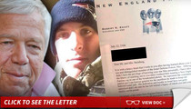 Patriots Owner Robert Kraft -- Sends Letter to Parents of American Killed Fighting in IDF